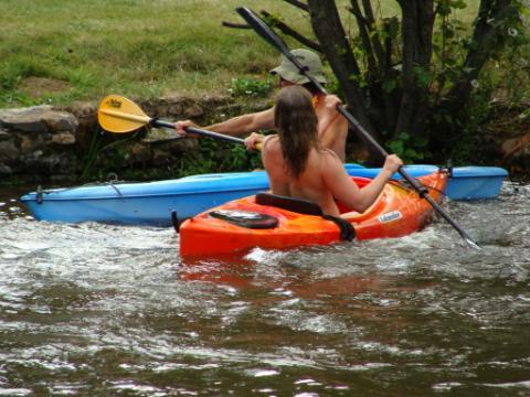 Kayak Races on the Pond